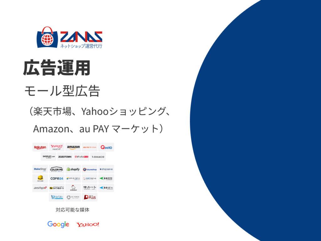 広告運用 モール型広告(楽天市場、Yahooショッピング、Amazon、au PAY マーケット)